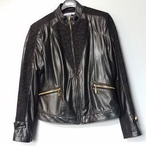 Nygard Women's Faux Leather Jacket Size Medium